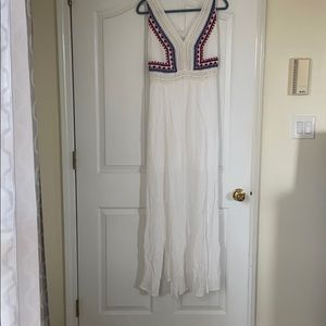 Size 6 white maxi dress